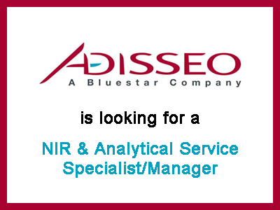 Adisseo - NIR & Analytical Service Specialist/Manager