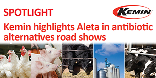 Kemin highlights Aleta in antibiotic alternatives road shows