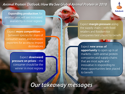 Animal protein production growth to continue in 2018, competition to increase - report
