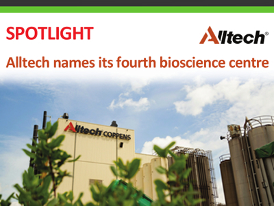Alltech names its fourth bioscience centre