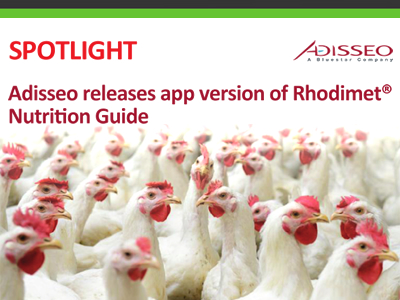 Adisseo releases app version of Rhodimet Nutrition Guide
