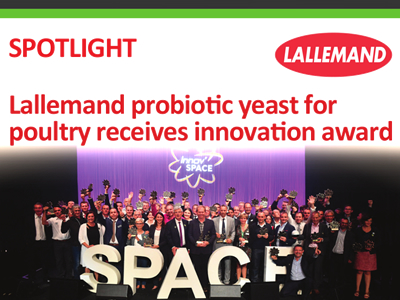 Lallemand probiotic yeast for poultry receives innovation award