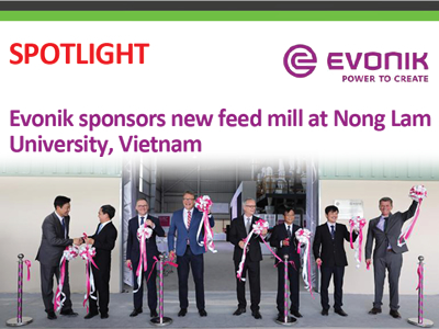 Evonik sponsors new feed mill at Nong Lam University, Vietnam