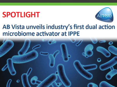 AB Vista unveils industry's first dual action microbiome activator at IPPE