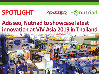 Adisseo, Nutriad to showcase latest innovation at VIV Asia 2019 in Thailand