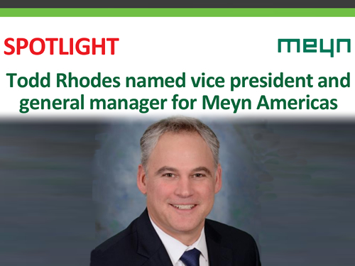 Todd Rhodes named vice president and general manager for Meyn Americas