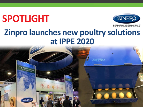 Zinpro launches new poultry solutions at IPPE 2020